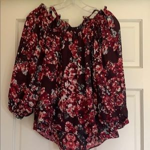 Parker cold shoulder floral top